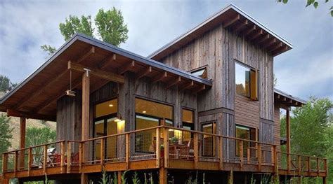 shed architectural style this shed roof style home is near ketchum idaho the vertical recycled wood siding and