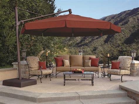 Umbrella Backyard by Treasure Garden Cantilever Aluminum 13 Foot Wide Crank