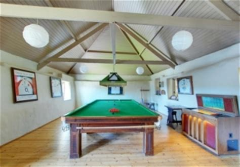 Games Room Holiday Cottages  Uk Self Catering