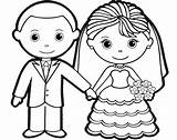 Groom Bride Coloring Pages Colouring Sheet Hello Kitty Template Romantic Children Sheets Charming Doghousemusic Preschool Winter sketch template