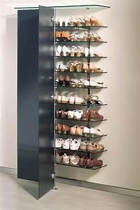 Schuhe Aufbewahren Ideen : elegantes schuh wandregal mit 2 glast ren anthrazit und 10 regalb den 8 mm klarglas f r ~ Markanthonyermac.com Haus und Dekorationen