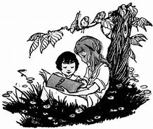 Children Reading | ClipArt ETC