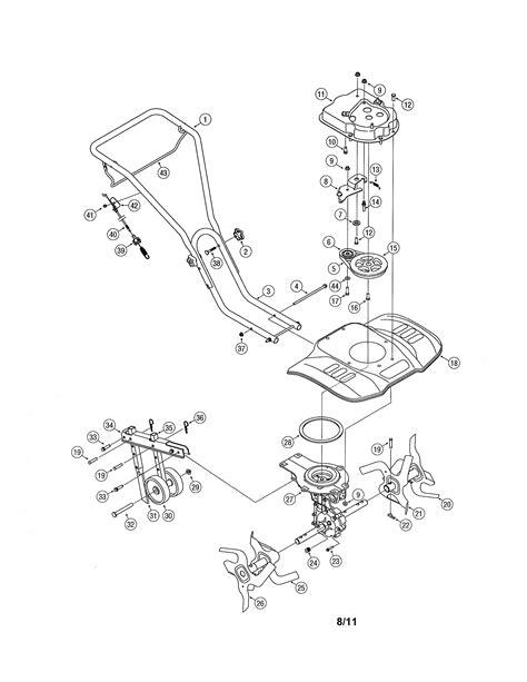 mtd model   front tine gas tiller genuine parts