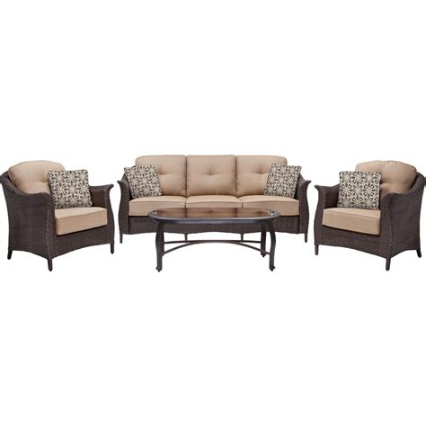 hanover outdoor furniture gramercy wicker 4 pc patio