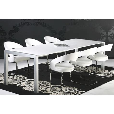 table de salle a manger blanc laque table 224 manger laqu 233 blanc