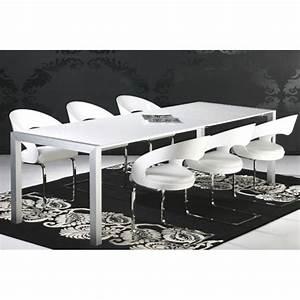 Table Laqué Blanc : table manger laqu blanc ~ Teatrodelosmanantiales.com Idées de Décoration