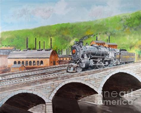 prr k4 crossing bridge johnstown pa by paul cubeta railroads and bridge