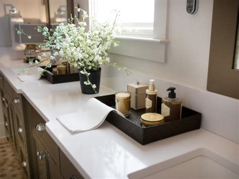 contemporary master bathroom  white quartz countertops
