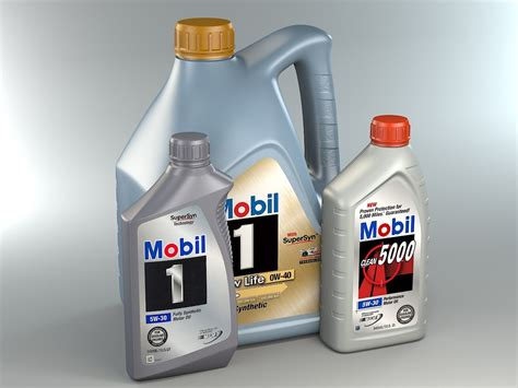 Mobil Motor Oil Bottles Max