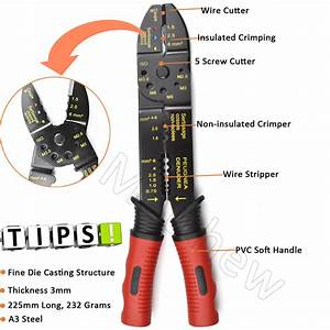 Basic Type Electrical Manual Wire Crimper