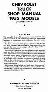 1955 Chevy Truck 2nd Series Shop Manual
