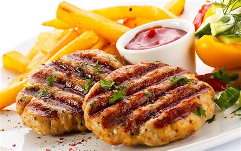 grille cuisine wallpaper meatball sauce potatoe grill food