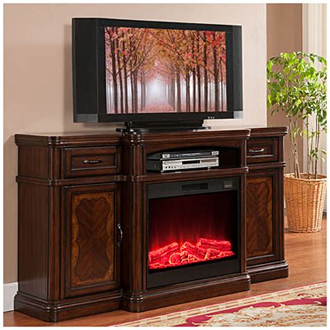 cherry media electric fireplace view 72 quot cherry media electric fireplace deals at big lots