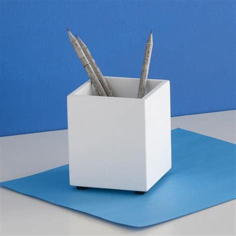 Desk Pencil Holder by Design Ideas Simple Structure Pencil Cup White Pen Holder