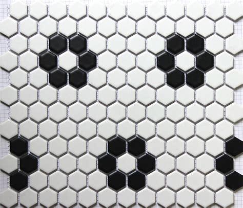 sicis black white hexagonal ceramic mosaic tile kitchen