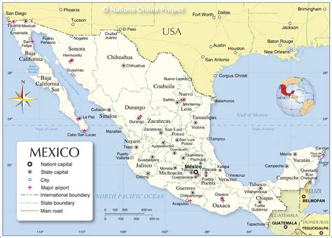 mexican airports map  travel information