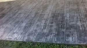 terrasse beton imprime parquet nos conseils With beton imitation parquet