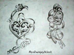 Heart Lock and Key Tattoo Designs