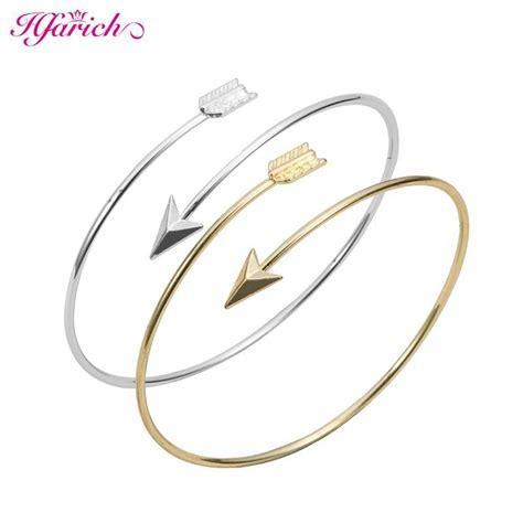 arrow open bangle hfarich classic adjustable arrow bracelets bangles for