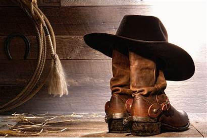 Cowboy Boots Hat Background Rodeo Lasso Country