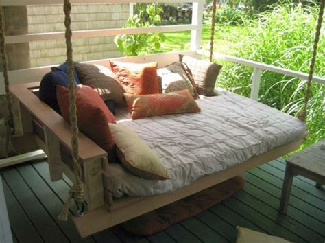 outdoor porch bed swing 18 homely hanging bed designs that will swing you to sleep