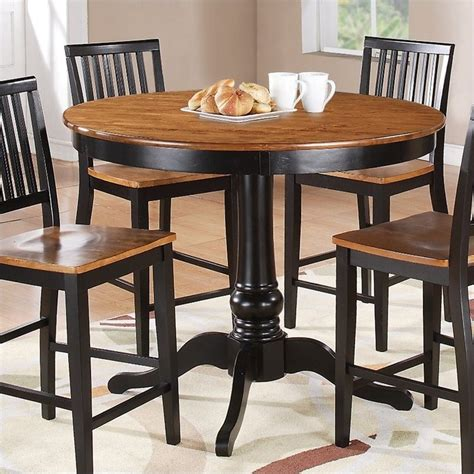 Steve Silver Company Candice Round Counter Height Oak