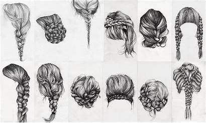Hair Braid Study Hairstyles Easy Drawing Braided