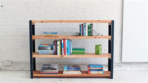 Build Bookcase by How To Make An Ironbound Diy Bookcase Out Of Angle Irons