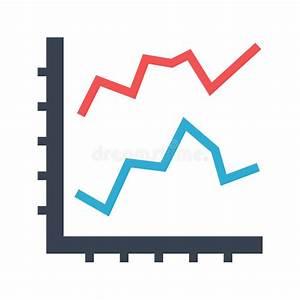 Line Diagram Flat Vector Icon Stock Vector