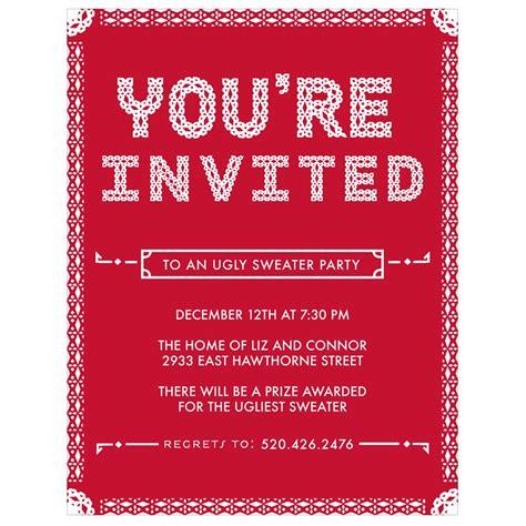 pattern holiday party invitations pear tree