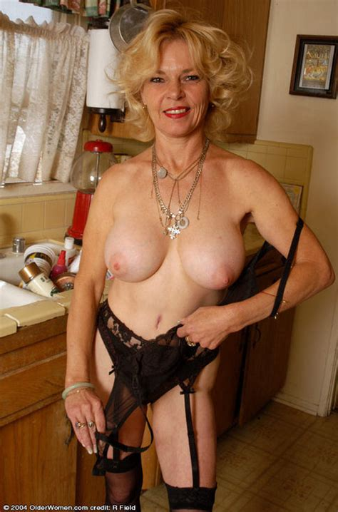 slim great tits granny in stockings strips lacy bra and panties pichunter