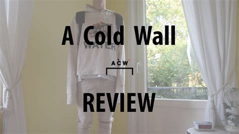 cold wall acw  water hoodie review youtube