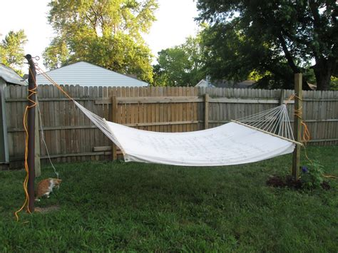 Hammock Posts In Ground by And Makes Three Project Hammock