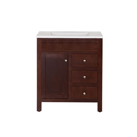 st paul wyoming 30 inch x 18 inch vanity in hazelnut with