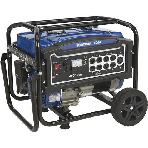 Generator Tool by Powerhorse Portable Generator 4 000 Surge Watts 3 100