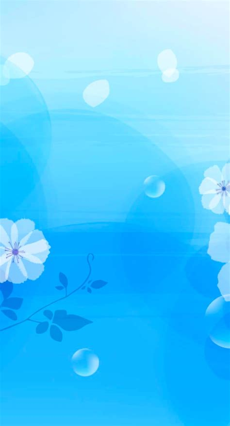 biru langit warna jos pola bunga biru wallpaper sc