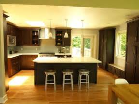 kitchen island with wine rack open concept oversized island transitional kitchen