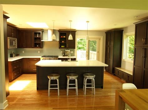 kitchens with islands open concept oversized island transitional kitchen 3576