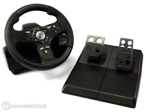 xbox 360 lenkrad xbox 360 lenkrad racing steering wheel mit pedale netzteil schwarz drivefx kaufen