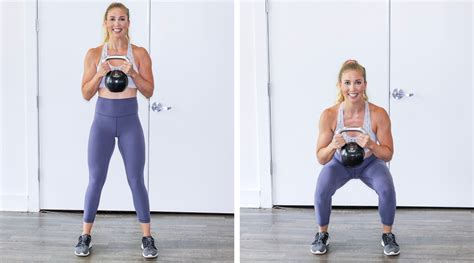 squat goblet kettlebell instructions exercise production