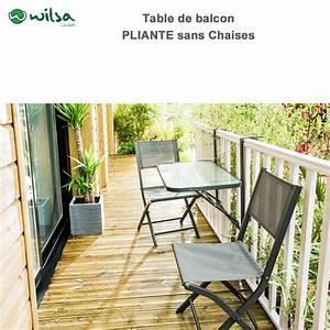 Table Balcon Pliante : table de balcon pliante600098 wilsa garden ~ Teatrodelosmanantiales.com Idées de Décoration