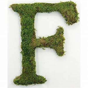 moss covered letters seeds of life With live moss letters