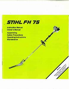 Stihl Fh 75 Hedge Trimmer Owners Manual