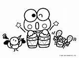 Sanrio Coloring Pages Frog Keroppi Kitty Hello Riscos Printable sketch template