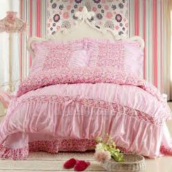 pink white girls lace bedding sets girls bedding sets