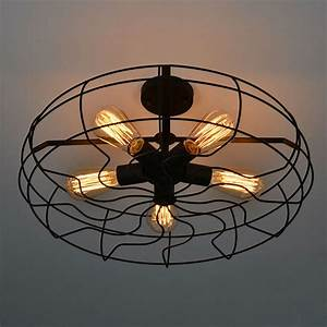 Vintage retro industrial fan ceiling lights american