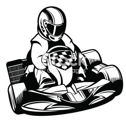 kart racing bw stock vector art  istock