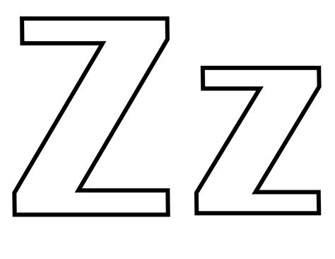 Classic Alphabet Z At Coloring-pages-for-kids-boys