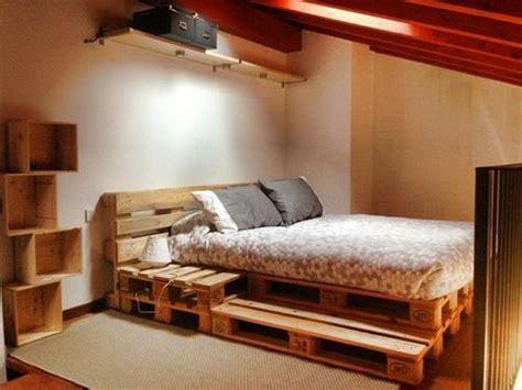 bett aus paletten  coole designs diy pallet bed