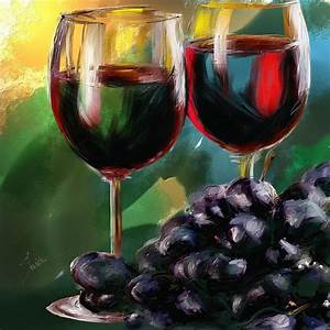 Toast Of Wine Painting by Robert Smith